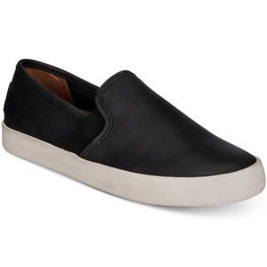 Frye | black | Dylan leather slip on shoes | NWT |